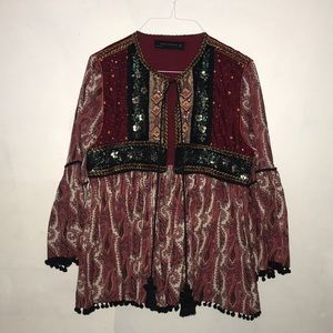 ZARA Woman Gypsy Boho Jacket